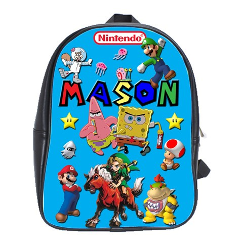 Mason Backpack By Dani Safford   School Bag (large)   T332uoiipq7i   Www Artscow Com Front