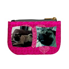Julie s Pug By Karen Clark   Mini Coin Purse   998mzfiu0zn1   Www Artscow Com Back