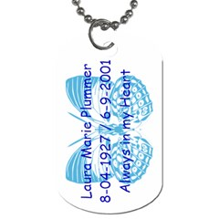 Mom By Carla Gropper   Dog Tag (two Sides)   2r42y4lqbhkj   Www Artscow Com Back