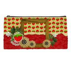 Pencil Case  Strawberries By Mikki   Pencil Case   5l6sbr5q8ydx   Www Artscow Com Front