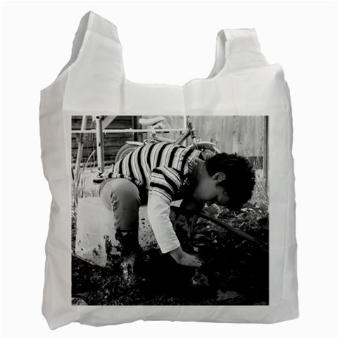 Digging The Garden   Recycle Bag By Tracy Shave   Recycle Bag (one Side)   4w0qf1dl1a57   Www Artscow Com Front