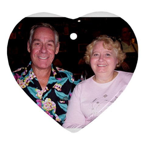 John And Sally By Sally   Ornament (heart)   Pi59w1u4chnv   Www Artscow Com Front