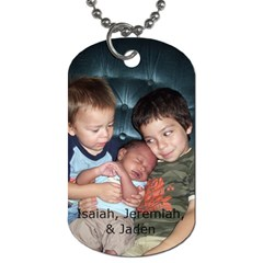 Jeremiah By Kathryn Holderman   Dog Tag (two Sides)   S8efu66lwbtq   Www Artscow Com Back