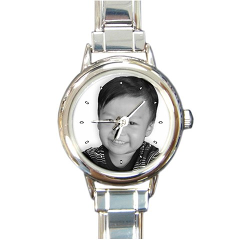 Personalized Watch By Mai Danganan   Round Italian Charm Watch   Mnje0yh08acf   Www Artscow Com Front