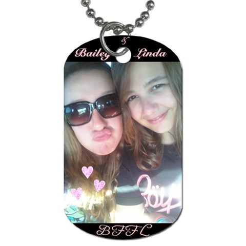 Bailey & Linda By Jenna   Dog Tag (one Side)   Vbnbvwkxjxkl   Www Artscow Com Front