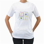 WOW T-shirt - Women s T-Shirt (White) (Two Sided)