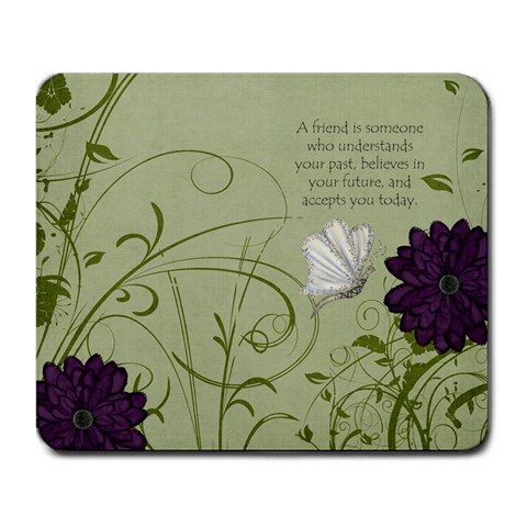 Friend Mousepad By Amanda Westbrook   Large Mousepad   Si5zn11sosrf   Www Artscow Com Front