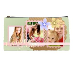 Flower With Girl By Joely   Pencil Case   Qbd0nxph94j3   Www Artscow Com Front