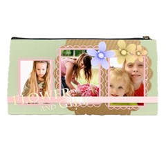 Flower With Girl By Joely   Pencil Case   Qbd0nxph94j3   Www Artscow Com Back