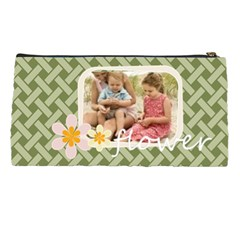 Flower With Girl By Joely   Pencil Case   Qj7ajicgoia8   Www Artscow Com Back
