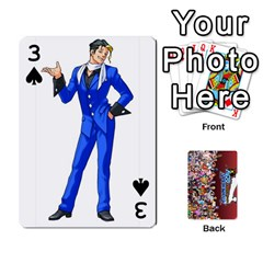 Pwcards By Wes   Playing Cards 54 Designs   Mifao410c0wj   Www Artscow Com Front - Spade3