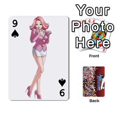Pwcards By Wes   Playing Cards 54 Designs   Mifao410c0wj   Www Artscow Com Front - Spade9