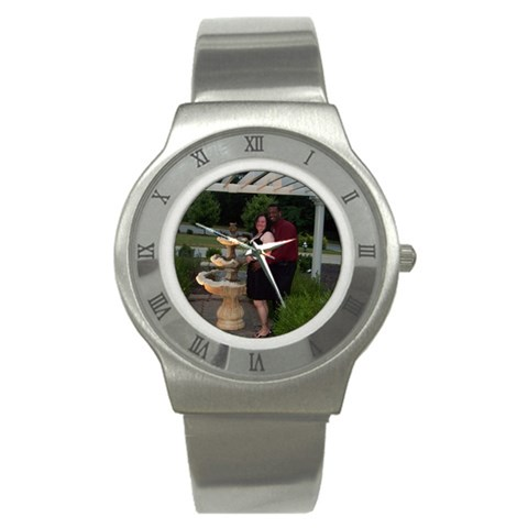 Stainless Steel Watch By Kiki Flores   Stainless Steel Watch   2987b4vwqo2x   Www Artscow Com Front
