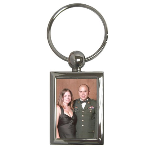 Army Ball By Carolina Scraps   Key Chain (rectangle)   7jx9v6bjgfjf   Www Artscow Com Front