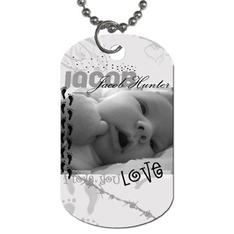 Jacob Dog Tag By Jennifer Kendall   Dog Tag (one Side)   Jqoqyjmtzues   Www Artscow Com Front