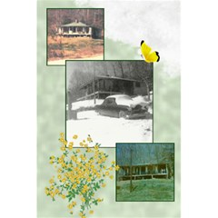 Old Home Place Notebook By Anna Marie   5 5  X 8 5  Notebook   B5h8dziks131   Www Artscow Com Back Cover Inside