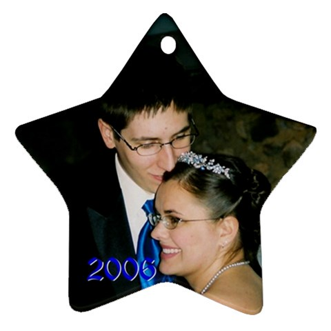 Our 2006 Ornament By Rachel Hull   Ornament (star)   Yln58fberfu4   Www Artscow Com Front