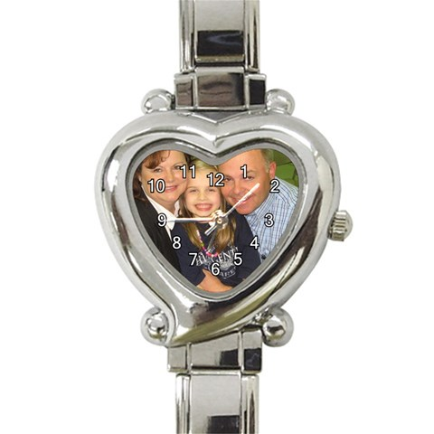 Watch By Kathy Rayhons   Heart Italian Charm Watch   Bc98rh06sy2k   Www Artscow Com Front