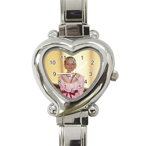 Watch By Kathy Rayhons   Heart Italian Charm Watch   524ma5p66kra   Www Artscow Com Front