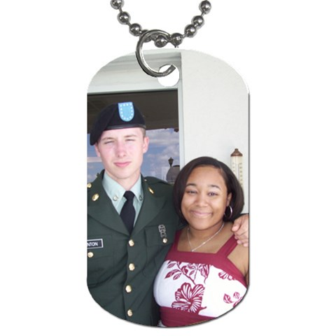 John Robert & Alexandra By Kathryn Holderman   Dog Tag (one Side)   Yfis8dswe8t2   Www Artscow Com Front