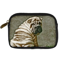Shar Pei Camera Case By Carolina Scraps   Digital Camera Leather Case   O80bltfjdorw   Www Artscow Com Front