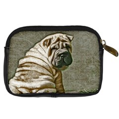 Shar Pei Camera Case By Carolina Scraps   Digital Camera Leather Case   O80bltfjdorw   Www Artscow Com Back