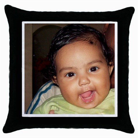 By Anu   Throw Pillow Case (black)   4t0zip31uv21   Www Artscow Com Front