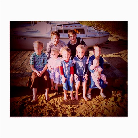 Photo Lens Cloth W/beach Scene Of Suess Children By Heather Suess   Small Glasses Cloth   Jp771zo7swng   Www Artscow Com Front