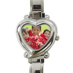 mae watch - Heart Italian Charm Watch