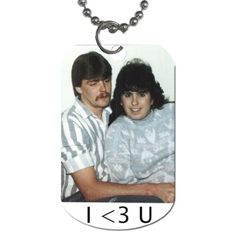 Robert N Tiffany Dog Tag By Tiffany Eckerle   Dog Tag (one Side)   Irp7x7s4l1qw   Www Artscow Com Front