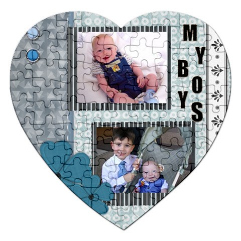 Boys Puzzle By Sarah   Jigsaw Puzzle (heart)   Do7q3r4g9hjd   Www Artscow Com Front