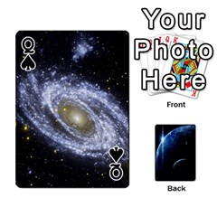 Queen Space Cards By Krista   Playing Cards 54 Designs   Ctci5ufglobx   Www Artscow Com Front - SpadeQ