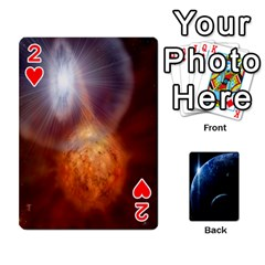Space Cards By Krista   Playing Cards 54 Designs   Ctci5ufglobx   Www Artscow Com Front - Heart2