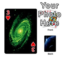 Space Cards By Krista   Playing Cards 54 Designs   Ctci5ufglobx   Www Artscow Com Front - Heart3