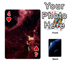 Space Cards By Krista   Playing Cards 54 Designs   Ctci5ufglobx   Www Artscow Com Front - Heart4