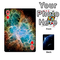 Queen Space Cards By Krista   Playing Cards 54 Designs   Ctci5ufglobx   Www Artscow Com Front - DiamondQ