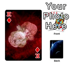 King Space Cards By Krista   Playing Cards 54 Designs   Ctci5ufglobx   Www Artscow Com Front - DiamondK