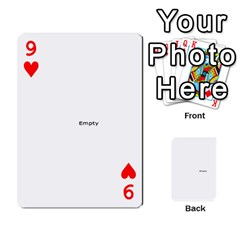 Family Photo Playing Cards By Nicole Hendricks   Playing Cards 54 Designs   Hrgl5eh7w5sr   Www Artscow Com Front - Heart9