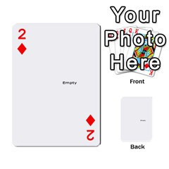 Family Photo Playing Cards By Nicole Hendricks   Playing Cards 54 Designs   Hrgl5eh7w5sr   Www Artscow Com Front - Diamond2
