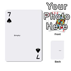 Family Photo Playing Cards By Nicole Hendricks   Playing Cards 54 Designs   Hrgl5eh7w5sr   Www Artscow Com Front - Spade7
