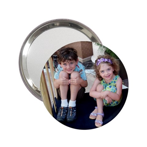 Mirror Of My Kids By Valerie Andreassi   2 25  Handbag Mirror   3s3h48q5x2za   Www Artscow Com Front