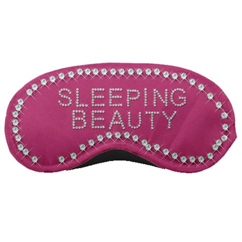 Pink Sleeping Beauty By Margaret   Sleeping Mask   0ol1dom39smu   Www Artscow Com Front