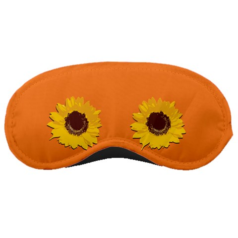 Orange With Sunflower By Margaret   Sleeping Mask   8upy1f236yj6   Www Artscow Com Front