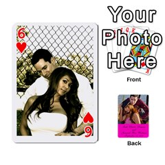 Cards Leah & Jr By Martha Samson   Playing Cards 54 Designs   5d0mm0125a5z   Www Artscow Com Front - Heart6