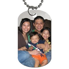 Our Family By Pinkishviolet   Dog Tag (two Sides)   U5c31kwwg4uf   Www Artscow Com Front