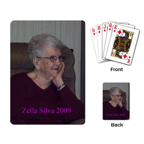 Grandma Zella Cards By Rhonda Bourland   Playing Cards Single Design   0s7qxjz3e3s4   Www Artscow Com Back