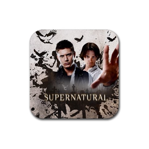 Supernatural Coaster  By Jessica   Rubber Coaster (square)   Ck7m8lmnxpeo   Www Artscow Com Front