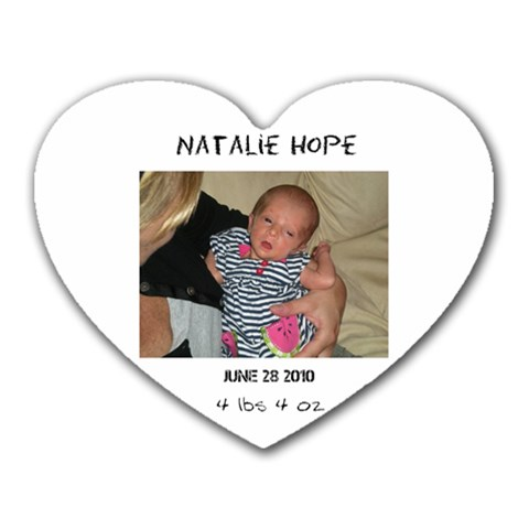 Natalie By Rachel Rose Brown   Heart Mousepad   Iy4dv83rxgtq   Www Artscow Com Front