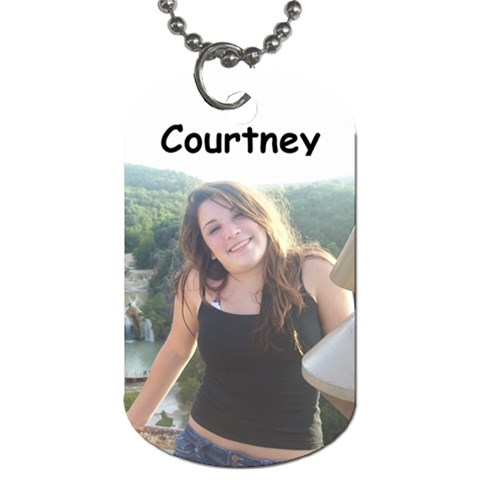 Courtney Dog Tag By Rebecca M Riojas   Dog Tag (one Side)   Gtadz632ecr1   Www Artscow Com Front