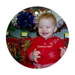 Cady s first Christmas ornament - Ornament (Round)